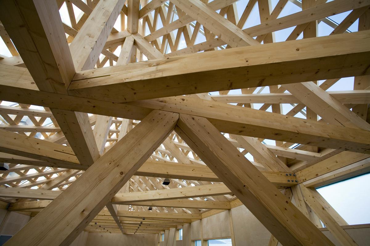 Madera laminada para la construcci n casas ecol gicas - Estructura madera laminada ...