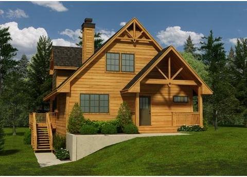 Plano de casa tradicional de 3 hab