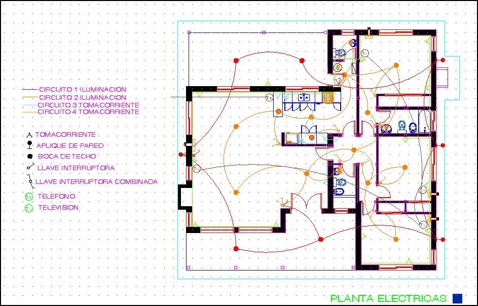 plano eléctrico de una casa