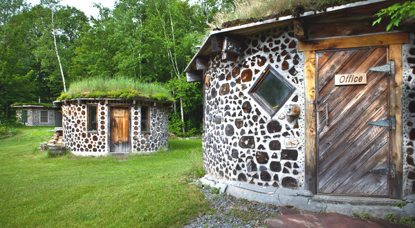 Construcción de casas de madera de leña casas ecológicas