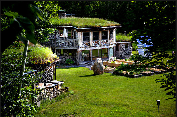 Construcción de casas de madera de leña