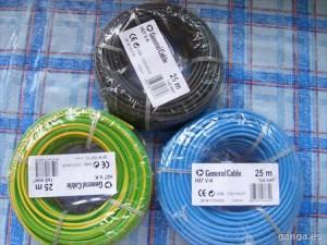 rollos de cables para instalación eléctrica