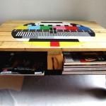 muebles hechos con palets, mesa de palet de madera