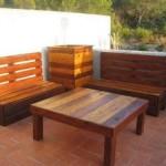 muebles de jardín hechos con pales de madera