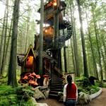 casita de madera en el arbol