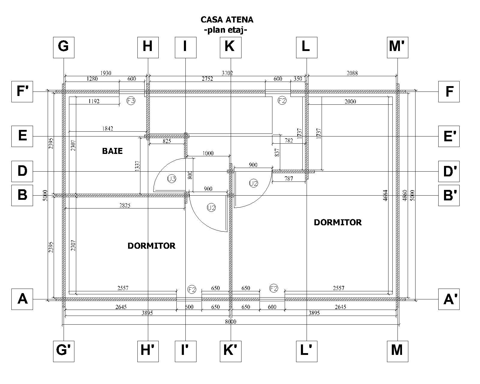 Plano planta primera casa 96 m