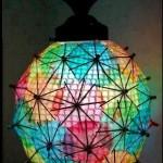 lámparas hechas con materiales reciclados