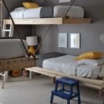 muebles hechos con palets, cama hecha con palets