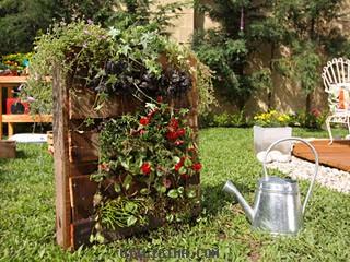 C mo hacer un jard n vertical en un palet casas ecol gica for Jardin vertical casero palet