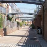 un barrio de casas ecológicas en Londres