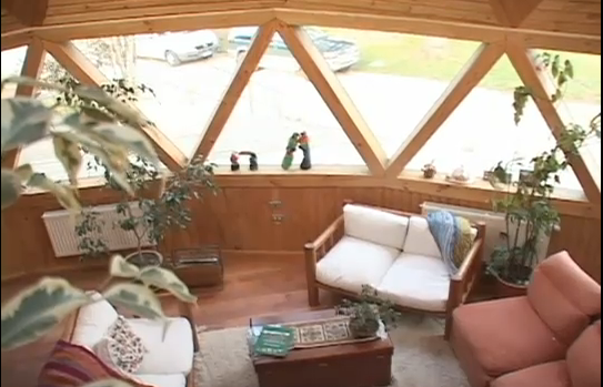 Interior domo de madera