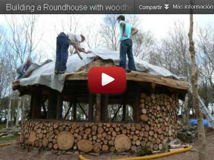 casa de madera de leña