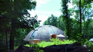 domo geodésico de madera