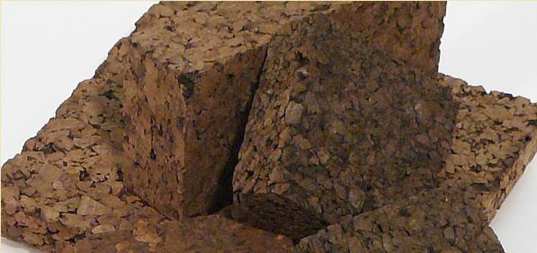 planchas de corcho aglomerado negro baja densidad