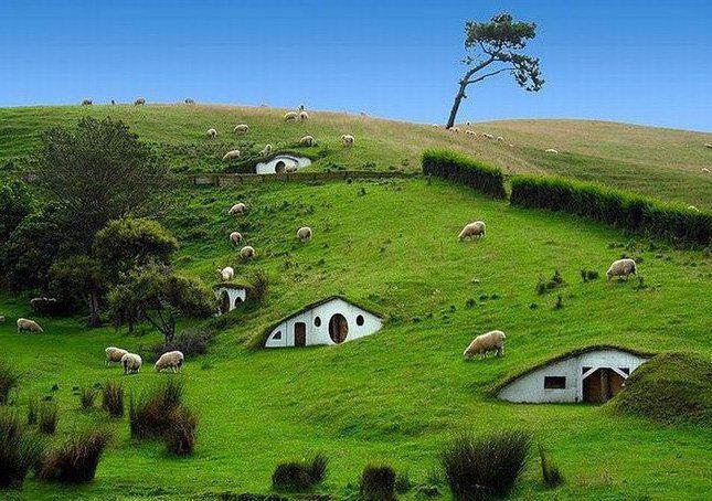 Casa Hobbit en Hobbit Village en Nueva Zelanda
