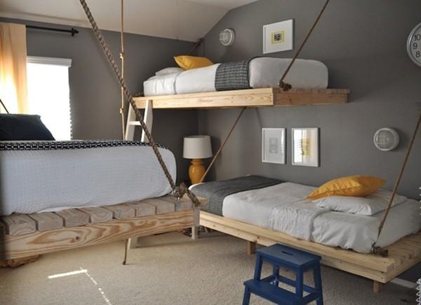 hanging pallet beds