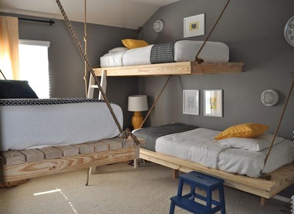 camas de palets colgantes - Camas Con Palets