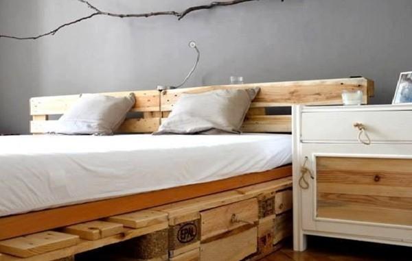 7 camas de palets en las que te encantar a dormir casas - Hacer cama con palets ...