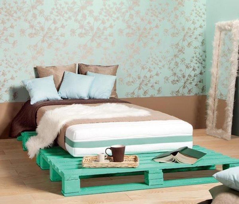 como hacer una cama de palets individual