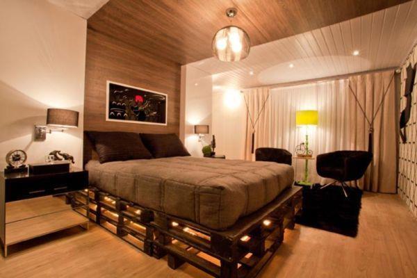 7 camas de palets en las que te encantar a dormir casas for Base de cama hecha con tarimas