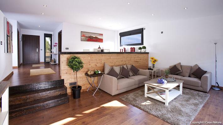 Casas prefabricadas de madera una apuesta ecol gica casas for Interiores de casas prefabricadas