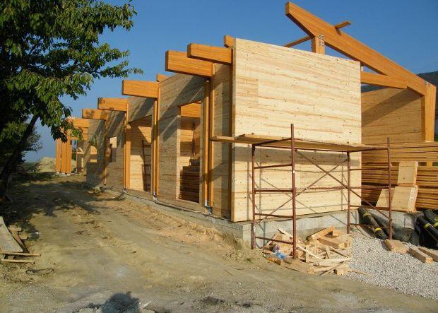 construcción con madera