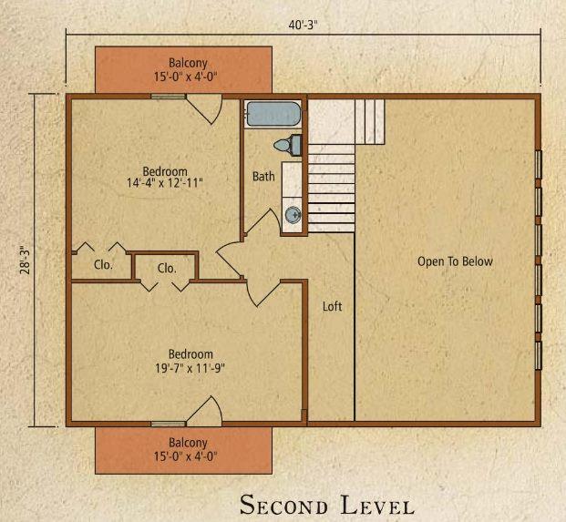 plano de casa de madera de 3 dormitorios