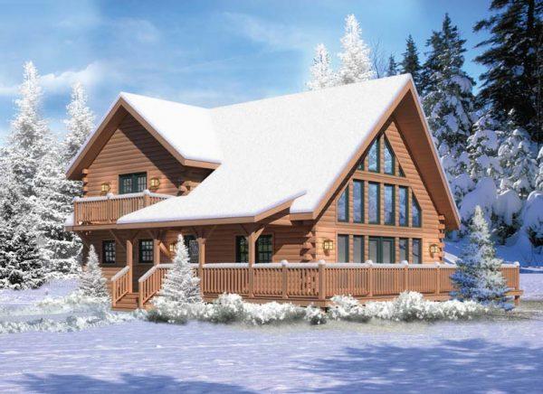 casa de madera de 3 dormitorios