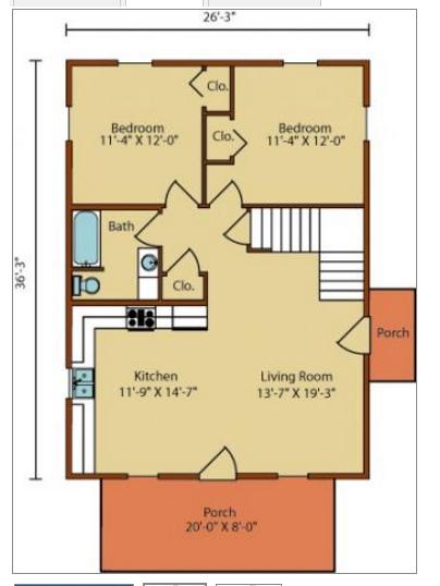 Plano casa 2 plantas