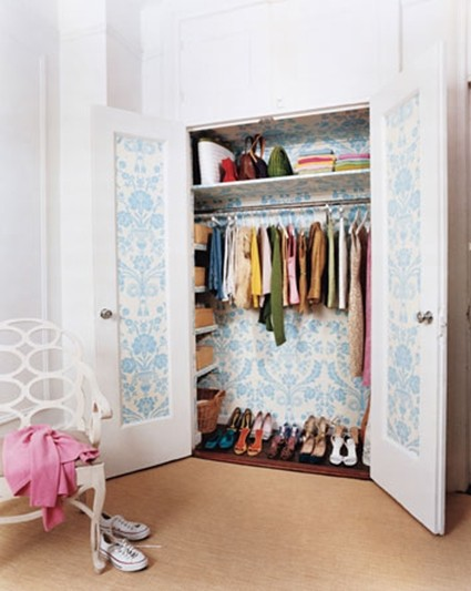 lined wardrobes with ecological materials