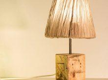 lámparas de madera, de palet natural