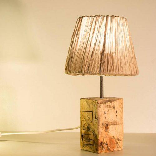 lámparas de madera, palet natural