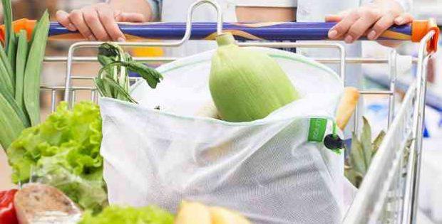 bolsas reutilizables de malla para la compra