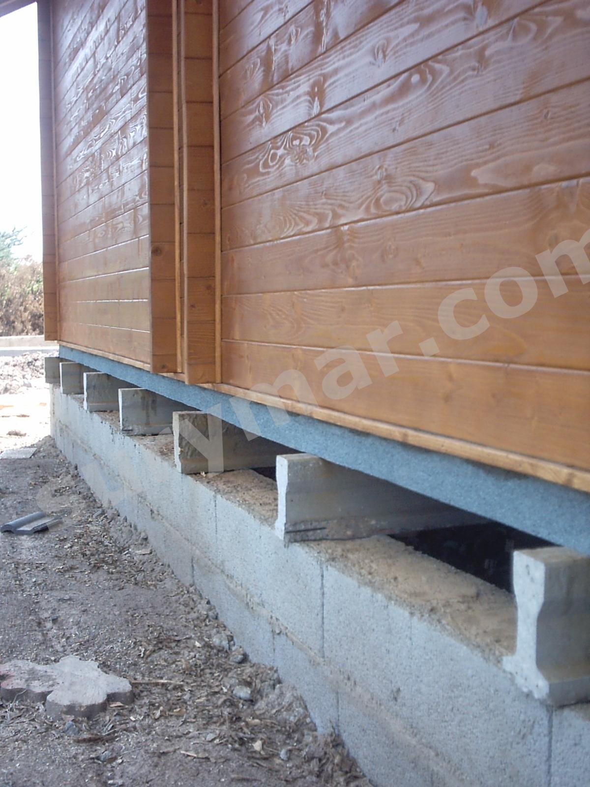 Cimentaci n suspendida para casas de madera - Propiedades de la madera ...