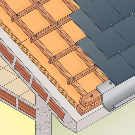 Casa de estructura de madera el techo for Como hacer tejados de madera
