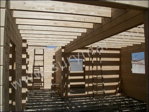 Casas de entramado de madera 3 el entrepiso casas - Montaje de casas de madera ...