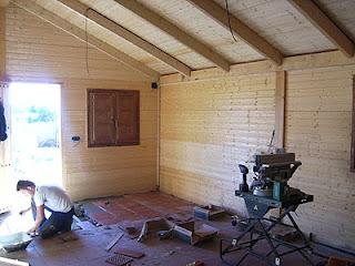 Casas de estructura de madera. El suelo